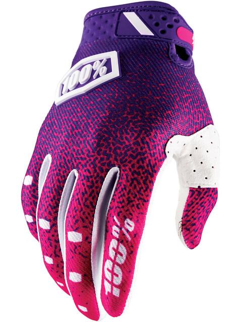 100% Ridefit Gloves pink/purple